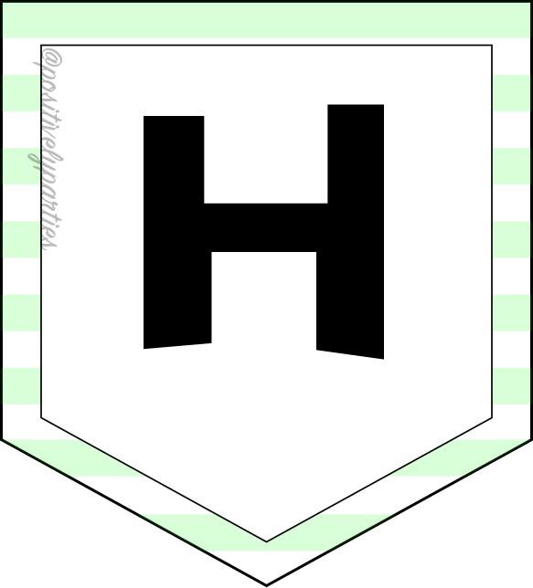 H banner